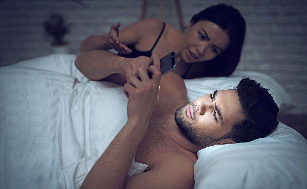 hombre móvil fertilidad smartphone