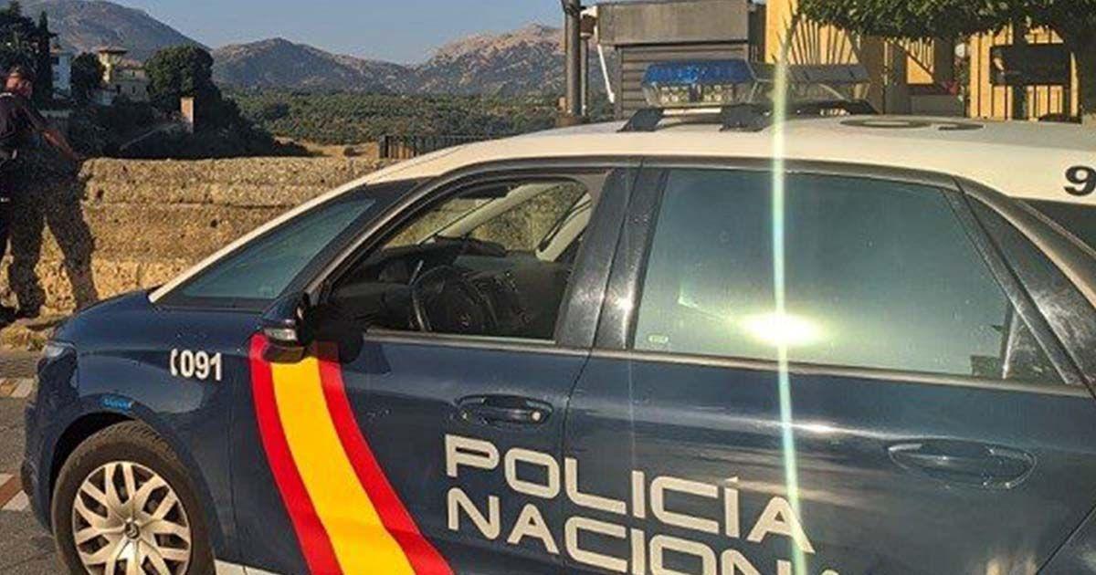 Policía Nacional en Ronda (Málaga)