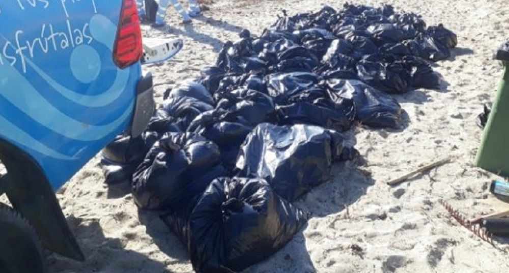 playas Algeciras basura