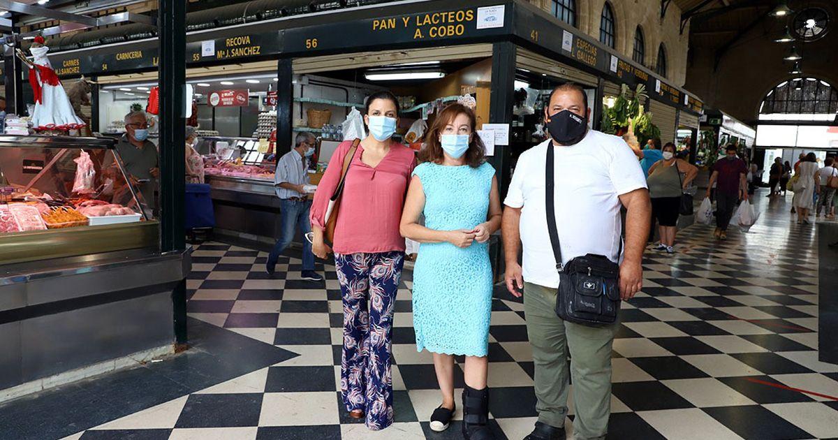 Culminan los trabajos de cerrajería y pintura en el Mercado Central de Abastos