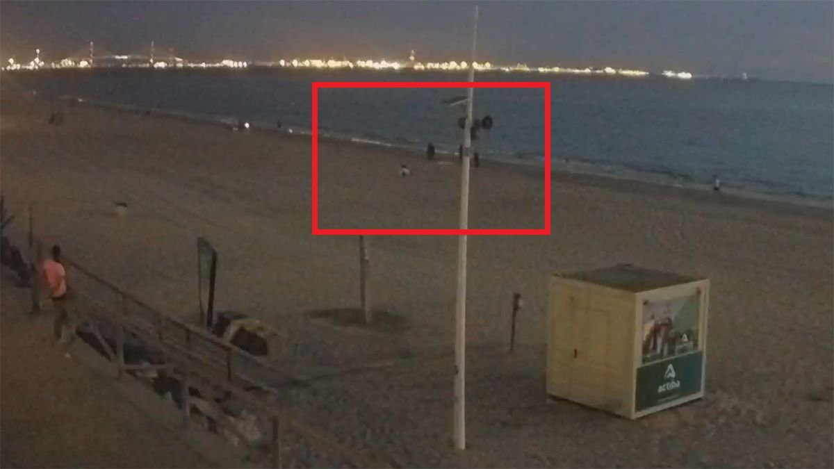 mujer ahogada las redes el puerto playa