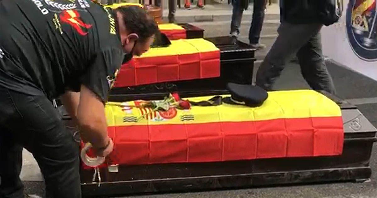 guardia civil policía nacional usapol manifestacion madrid contra pedro sanchez eta asesina madrid manifestación