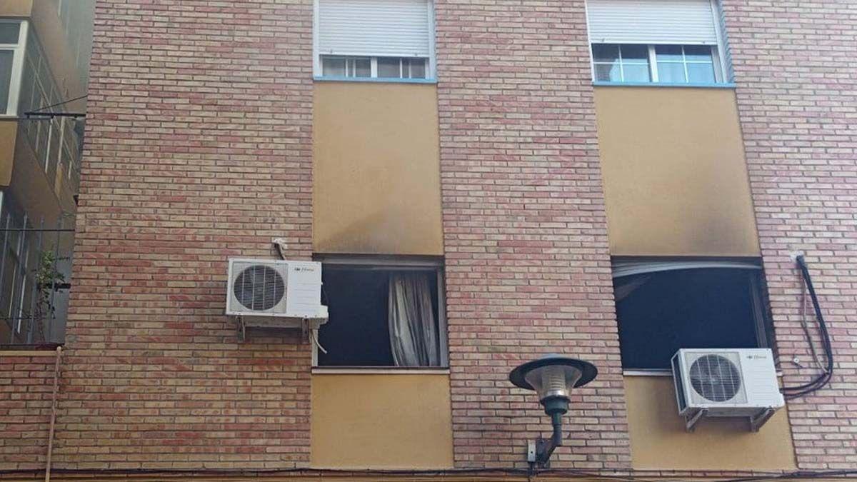 Incendio en un piso de Málaga