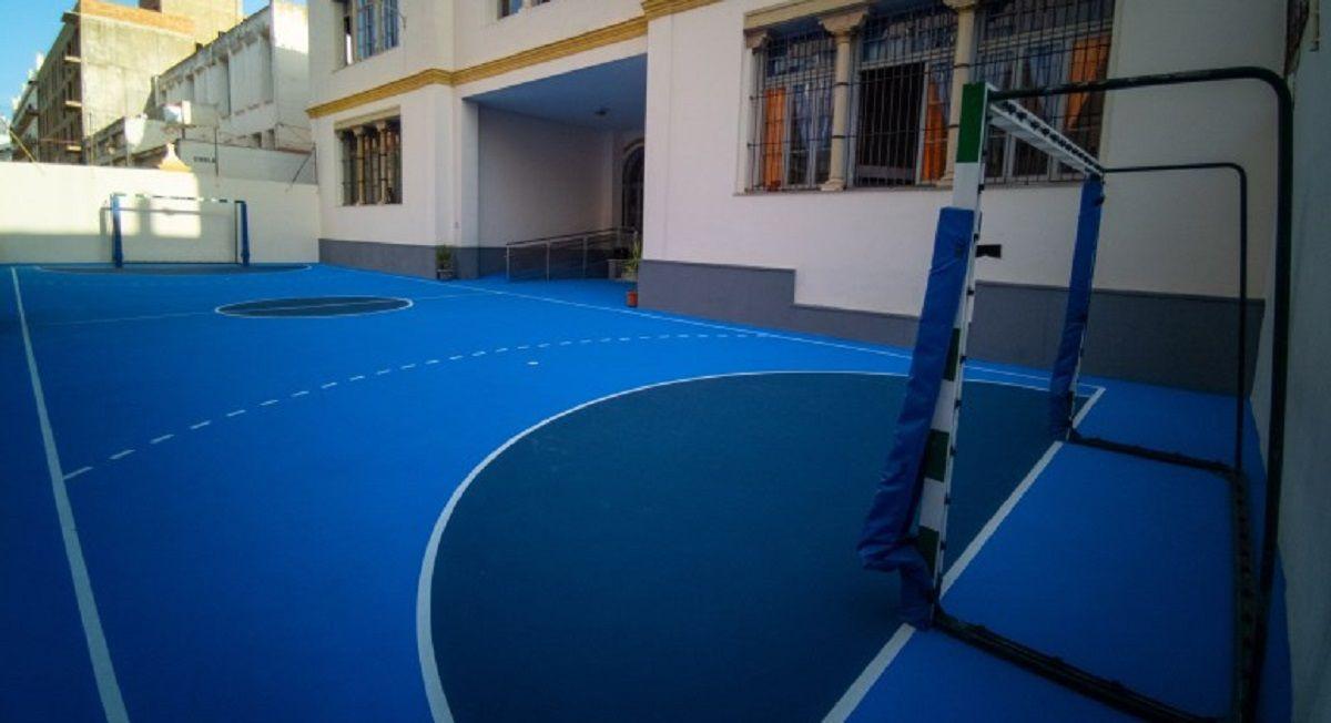 San Rafael patio colegio