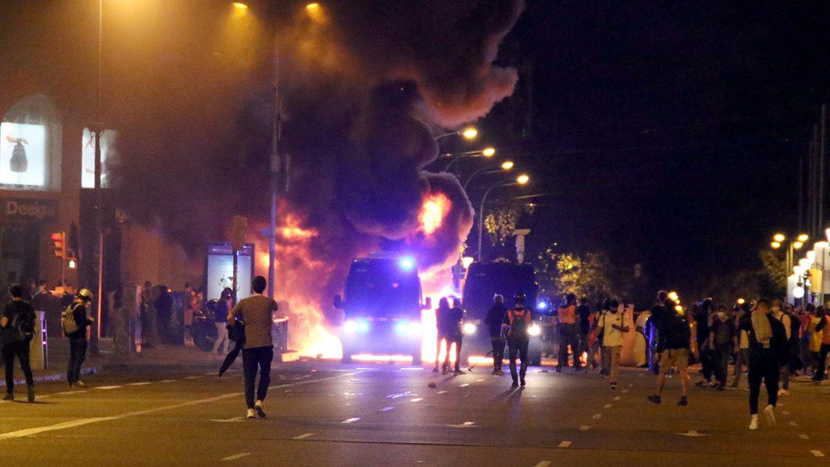 Disturbios barcelona independentismo cdr