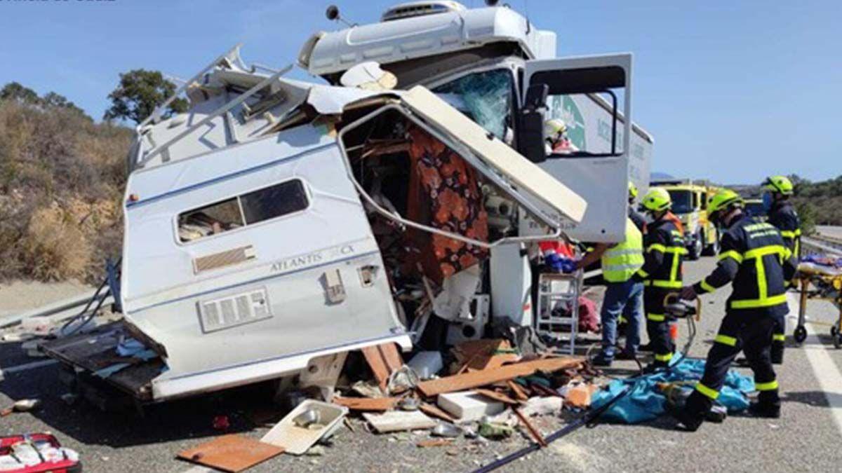 Accidente caravana cádiz