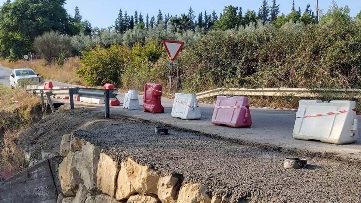 obras en la carretera de Guadalhorce