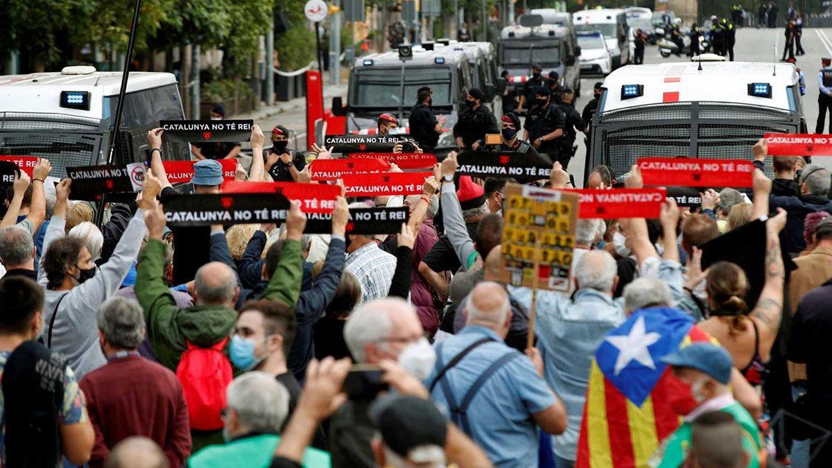 Manifestación contra el Rey en Barcelona