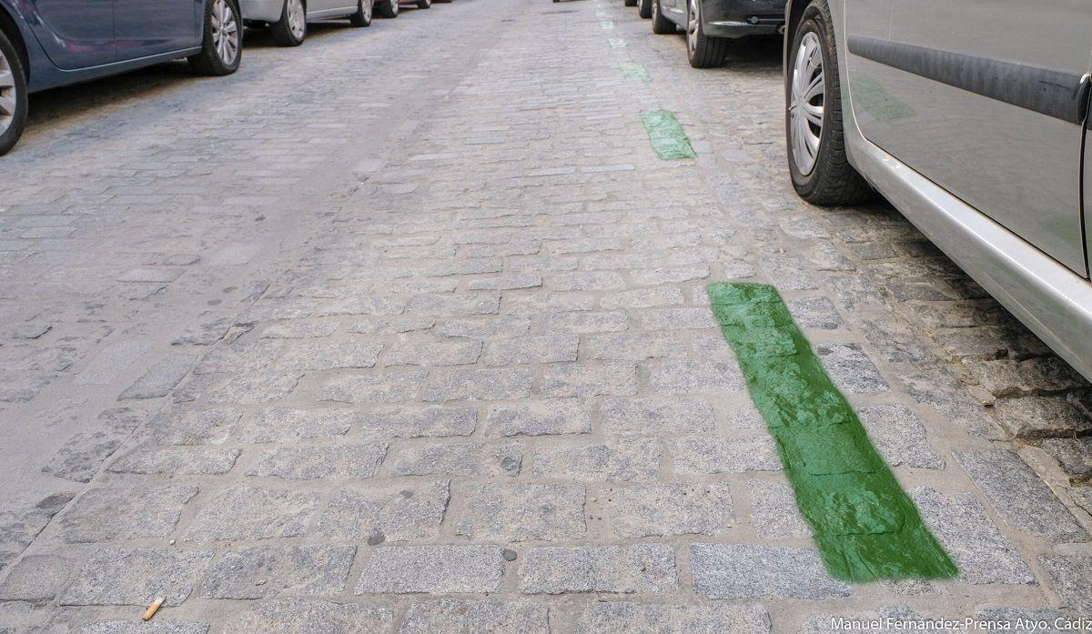 Cádiz zona verde aparcamiento