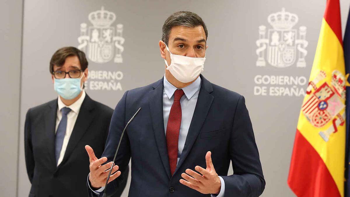 Pedro Sánchez Salvador Illa estado de alarma toque de queda