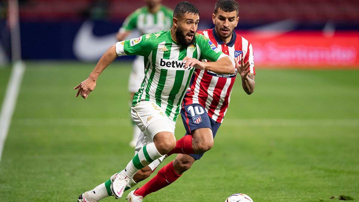 Fekir durante el Atlético de Madrid - Real Betis
