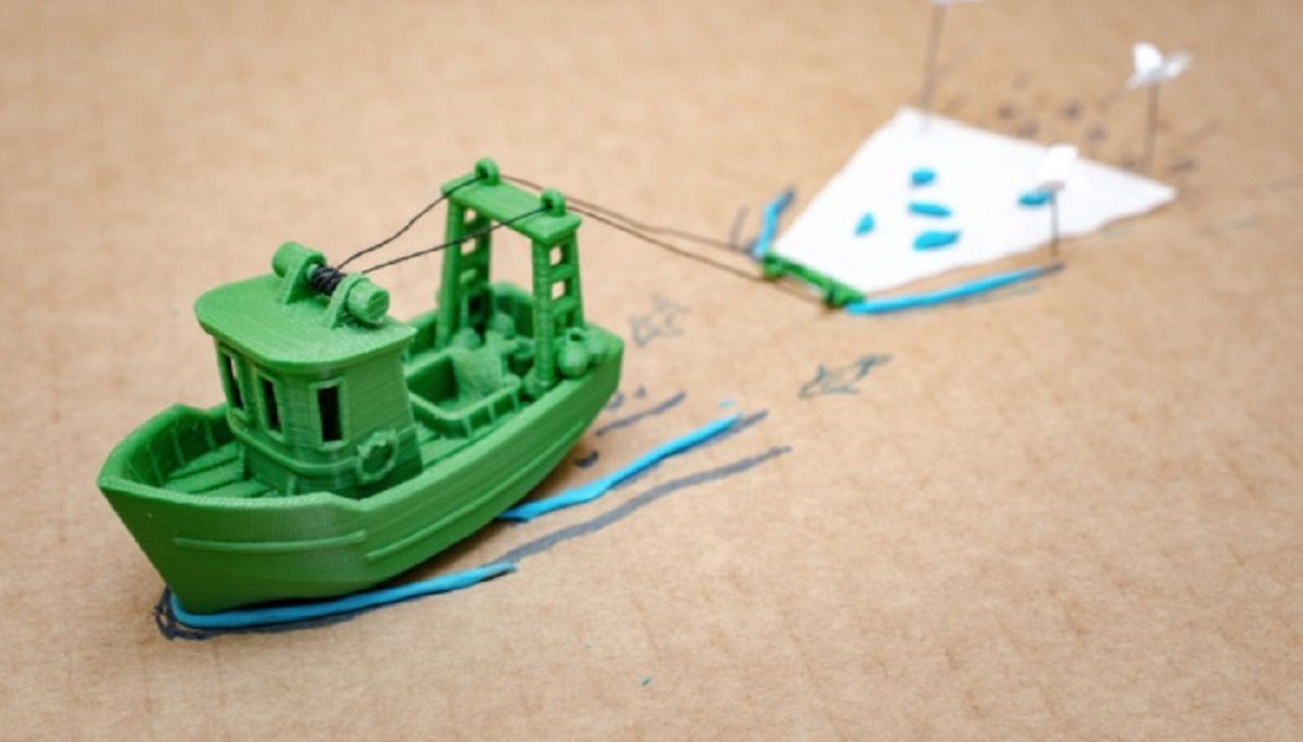 barco pequeño tierra