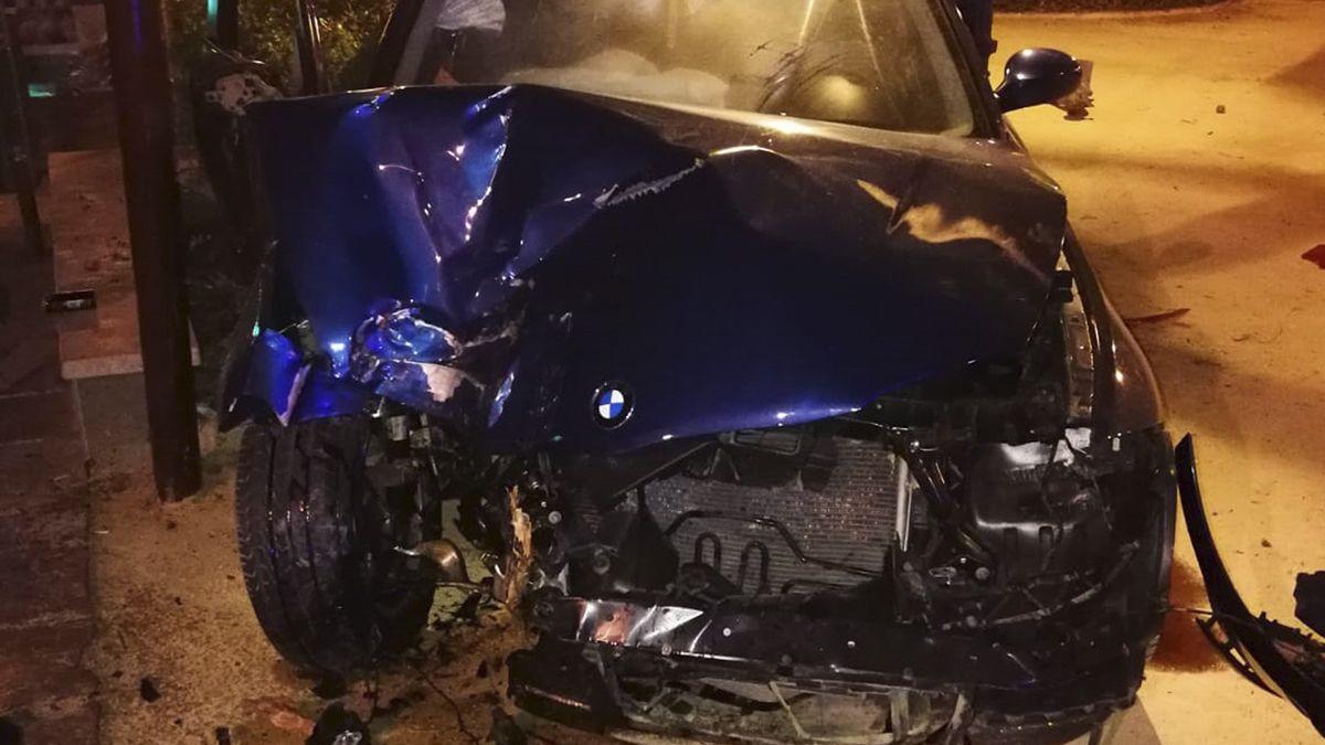 Coche accidente Málaga