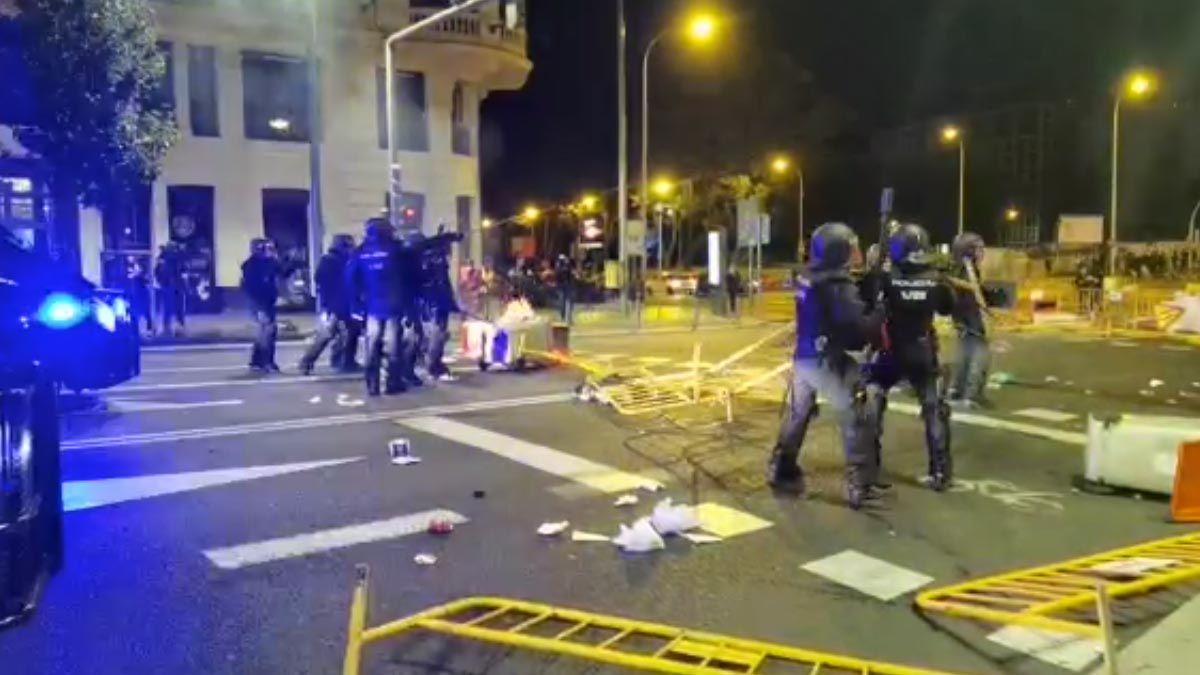 policía disturbios españa