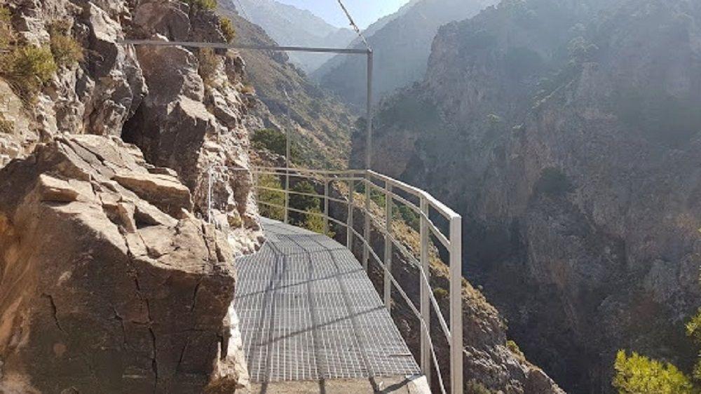 sendero de Canillas del Aceituno en Málaga