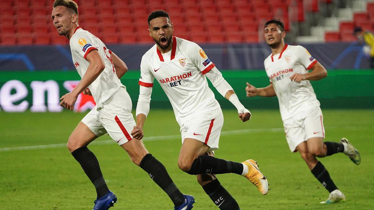 Gol En-Nesyri en el Sevilla-Krasnodar