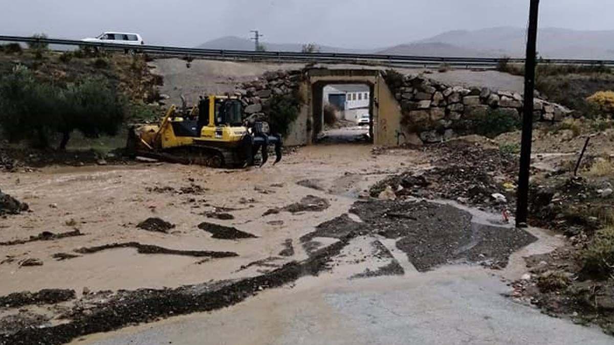Desastre ocasionado por la lluvia en Ardales