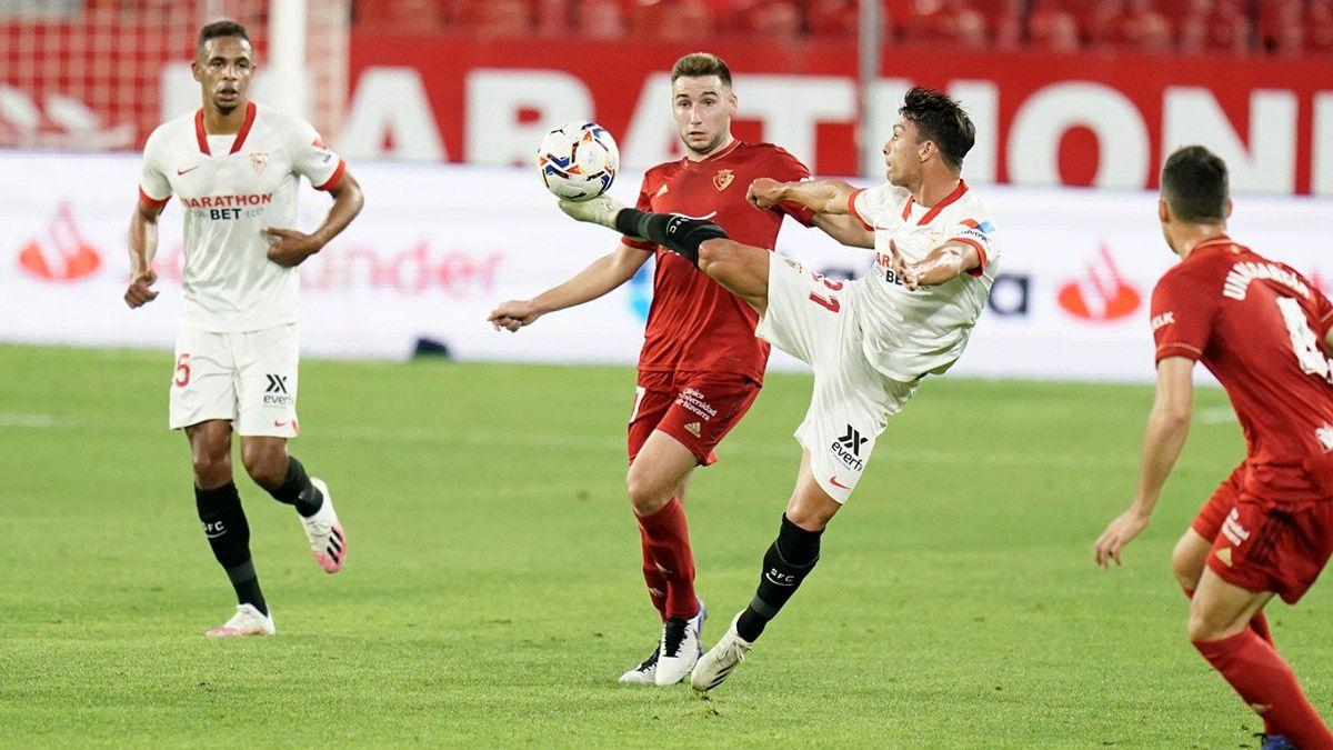 Oliver Torres durante el Sevilla FC-Osasuna