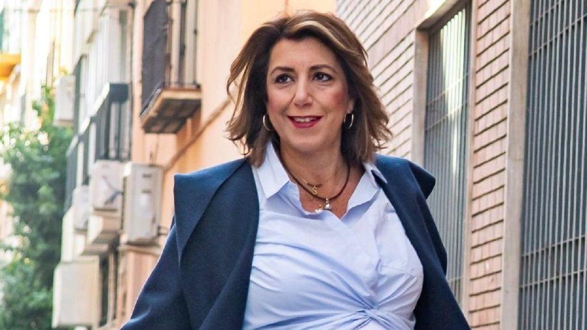 Susana Díaz celebra la victoria de Biden