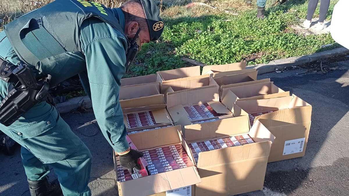 Cajetillas de tabaco de contrabando