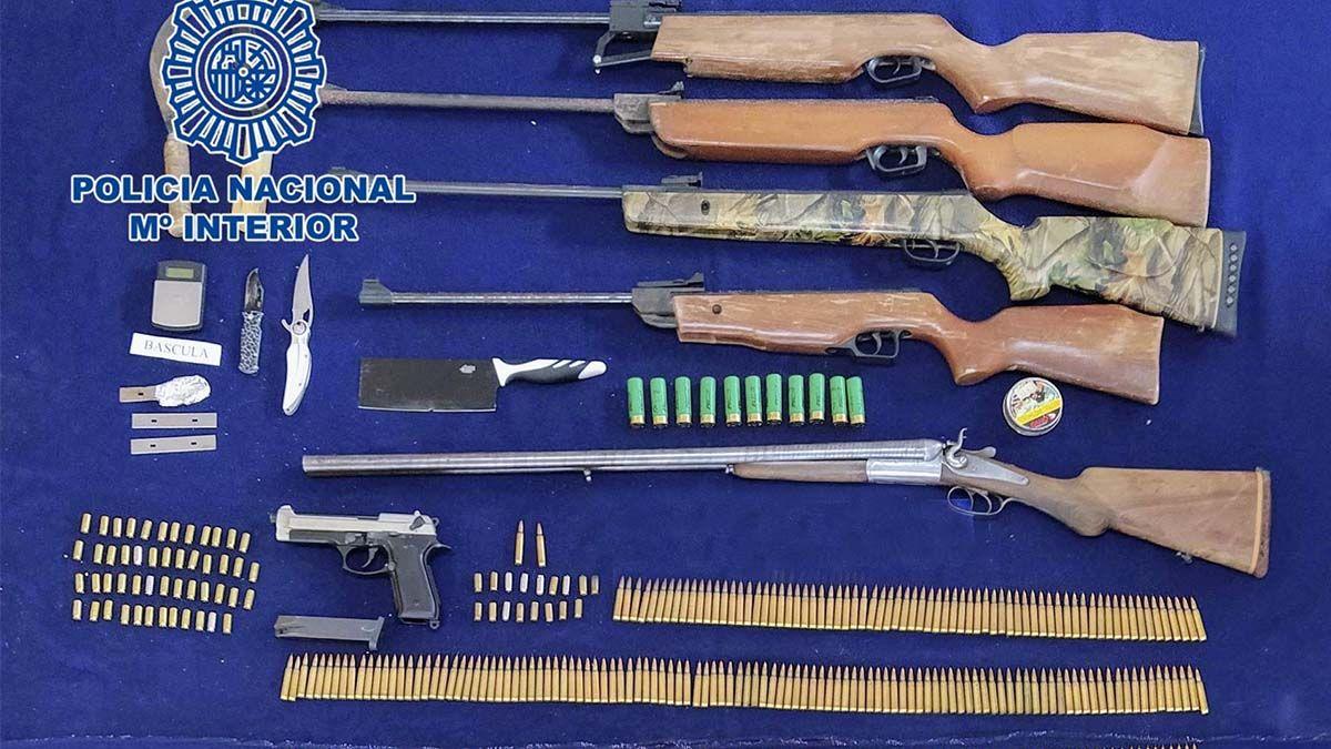 Armas intervenidas en Córdoba