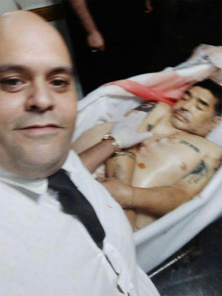 Diego Molina Maradona funeraria