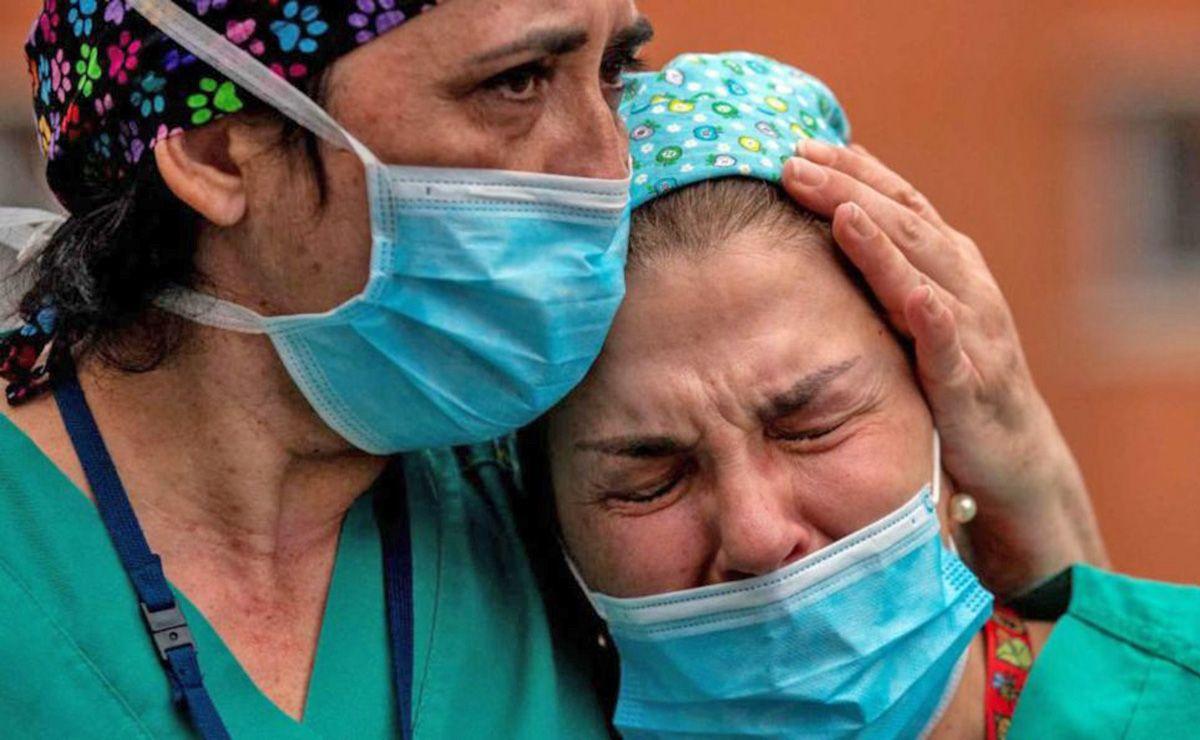 2020 Sanitario Covid-19 llorando enero marzo