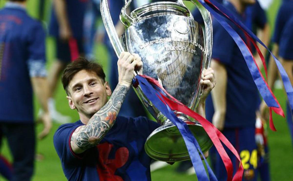 Messi levanta su cuarta Copa de Europa