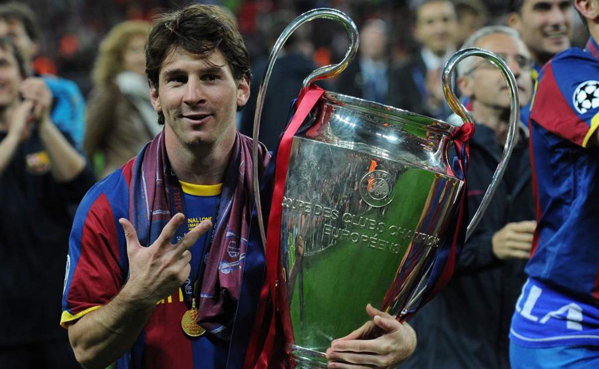 Messi celebra su tercera Champions League